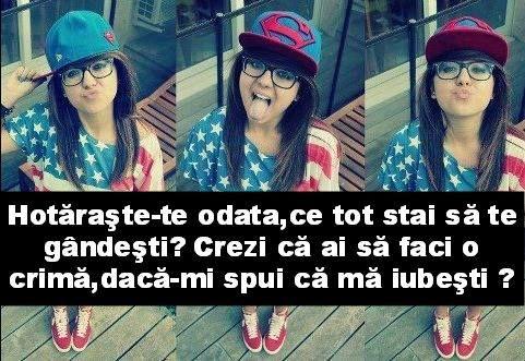 Ma iubesti? :3  # respira daca DA # linge-ti gatul daca NU! =)))