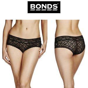 Womens Bonds Lacie Boyleg Shortie Undie Black Lace Sexy Panties Knickers Wyaxy | eBay