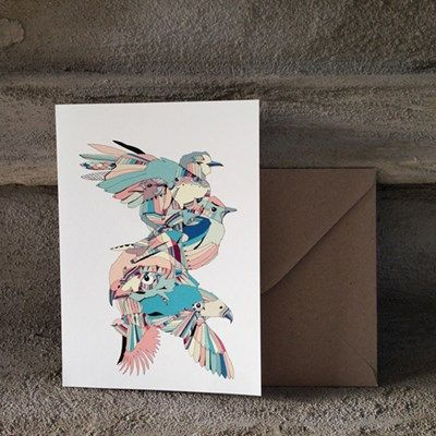 A Mile In The Woods Fugl Postkort