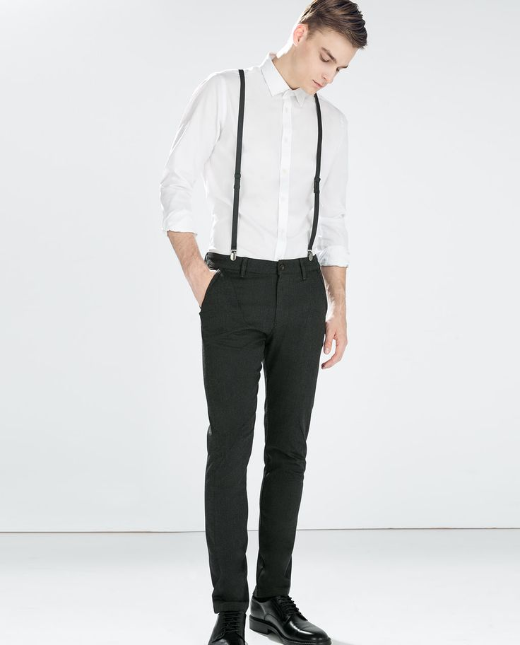 Image 1 of SEAMED TROUSERS WITH SUSPENDERS from Zara