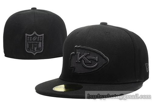 Cheap Wholesale Kansas City Chiefs 59Fifty Caps Fitted Hats All Black for slae at US$8.90 #snapbackhats #snapbacks #hiphop #popular #hiphocap #sportscaps #fashioncaps #baseballcap