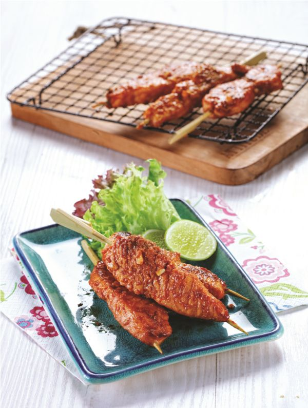 Sate Salmon :: Salmon Satay