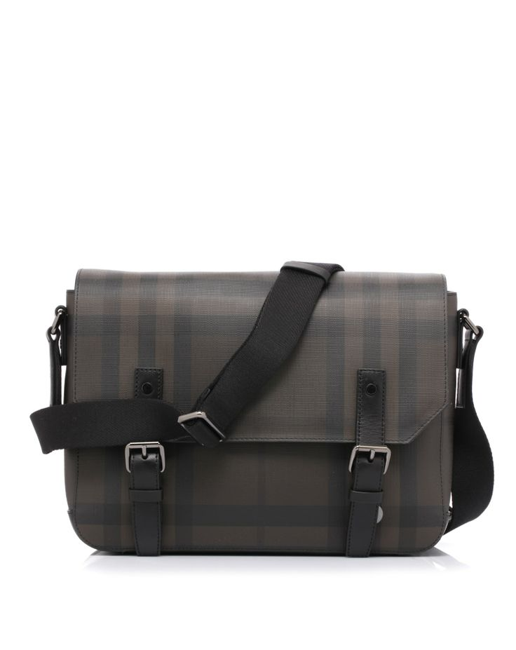 Messenger bag with leather trim by @Burberry