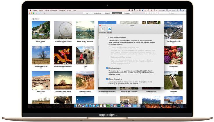 Foto's (Mac) gebruiken zonder icloudbibliotheek. Dus zoals iPhoto