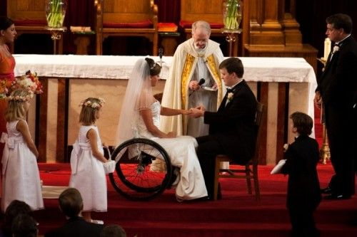 Image result for wheelchair wedding dress