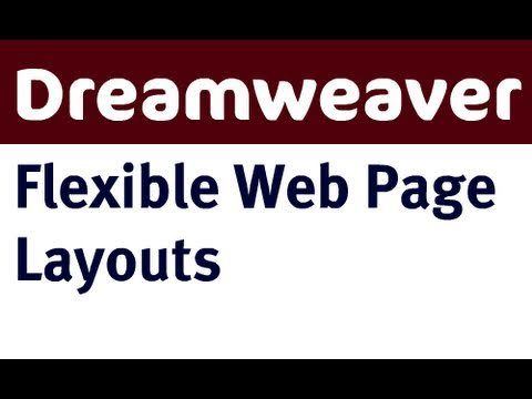 Creating a flexible web page layout in Dreamweaver CS4 using div elements with float and margin css properties.