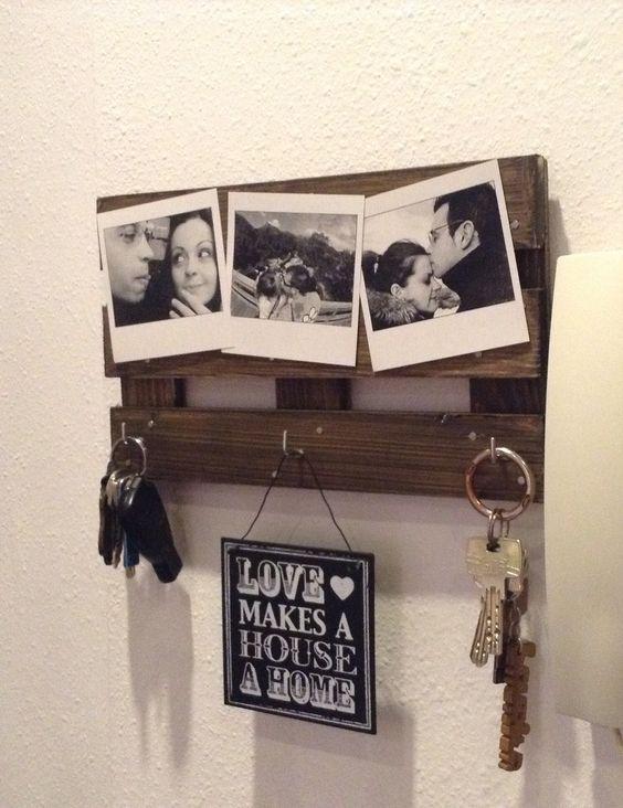 C mo hacer un colgador de llaves de madera y original para for Decoracion hogar original