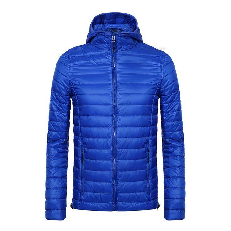 Stylish Winter Jacket For Men Ultra Thin Warm Down Jackets Cotton Waterproof Nylon Quality Coat and Jacket
