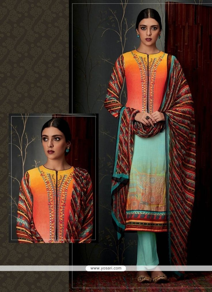 Delightful Pashmina Designer Straight Salwar Suit Model: YOS7966