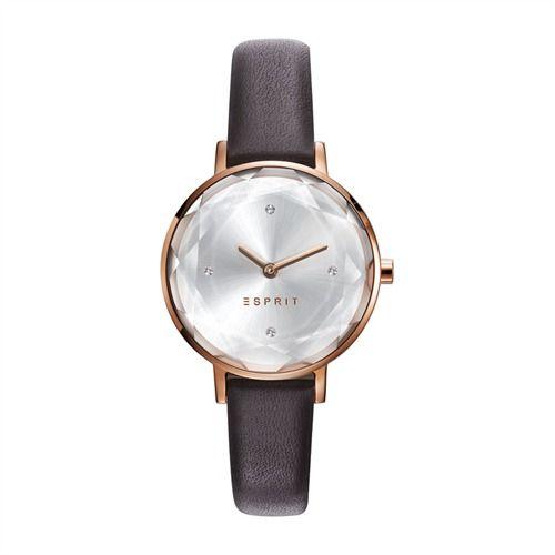 Esprit Damenuhr braun Leder roségold ES109312003 https://www.thejewellershop.com  #watch #uhr #jewelry #schmuck #esprit #uhren  #armbanduhr
