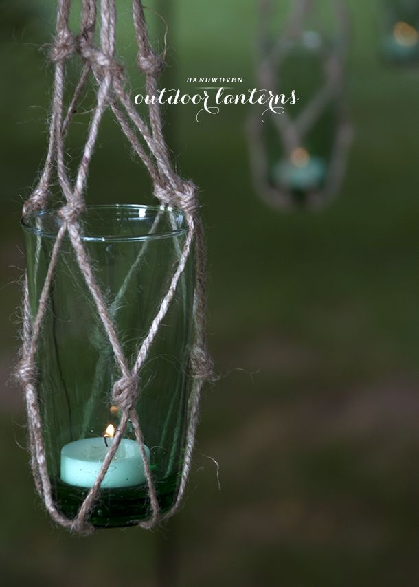 Handwoven Outdoor Lanterns (Earnest Home co.)