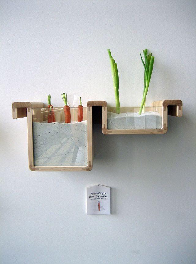 Eco-FriendlyKitchens, Ideas, Jihyun Ryou, Foodstorage, Saving Food, Roots Vegetables, Food Storage, Design, Stores Food
