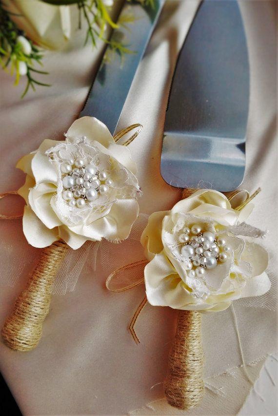 rustic Wedding Cake Server Set Wedding Cake by WeddingArtGallery #wedding #champagne #flutes #glasses #flutes #cake #serving #set #etsy #candle #bride #rustic #wedding flutes rustic #rustic knife set #wedding #weddingdecor #toasting flutes rustic #pearl rustic knife, ##wedding knife set #knife #set #pearl rustic wedding cake serving set #wedding knife set #knife rustic