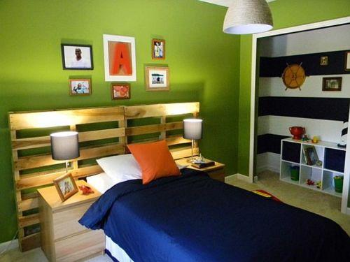Coole Möbel aus Europaletten DIY bastelideen schlafzimmer