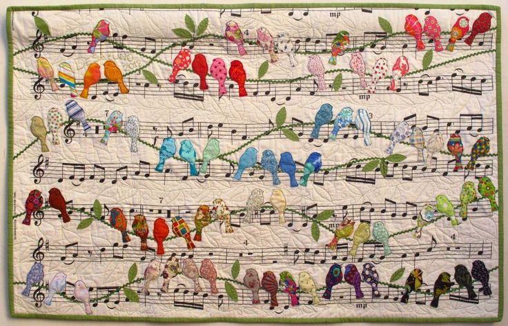 """""""Pássaros"""" por Cecilia Koppmann, desde a exposição especial """"Hands All Cerca de 2015."""" Foto: Quilts Inc."""