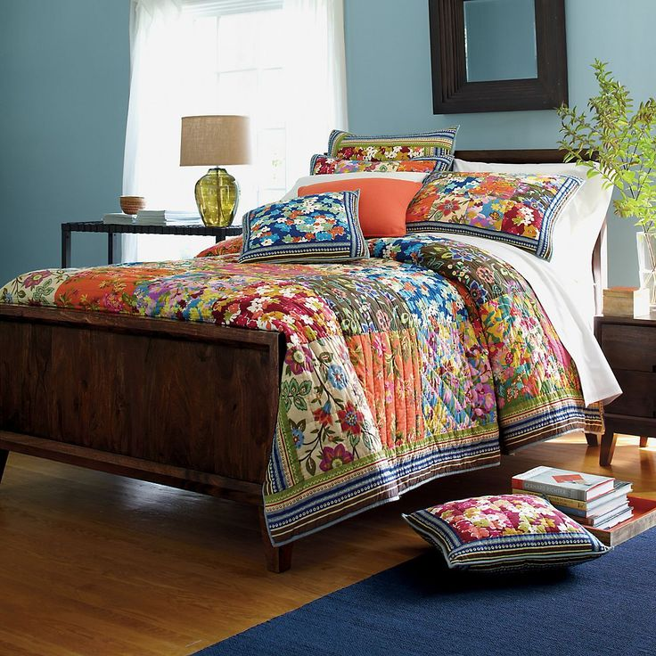Bright Multi Colored Quilt From Company Store.