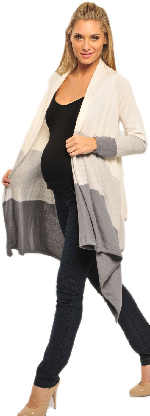 Olian Wrap Maternity Sweater | Maternity Clothes on Sale available at Due Maternity www.duematernity.com