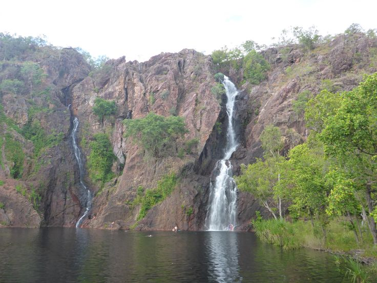 Wangi Falls, Northern Territory, safe to swim in May to October, in the other months dangerous saltwater crocodiles are found in this lagoon.