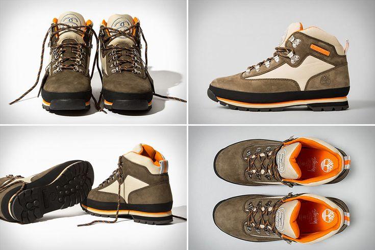 Популярные ботинки Timberland Euro Hiker в варианте отStussy