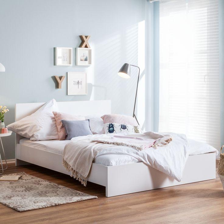 die besten 25 bett 140x200 wei ideen auf pinterest. Black Bedroom Furniture Sets. Home Design Ideas