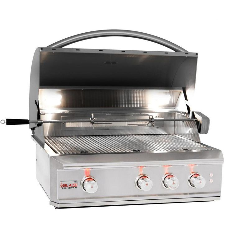 Blaze Professional 34-Inch Built-In Natural Gas Grill With Rear Infrared Burner - BLZ-3PRO-NG : BBQ Guys