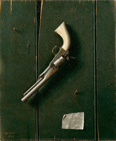 William Michael Harnett The Faithful Colt 1890