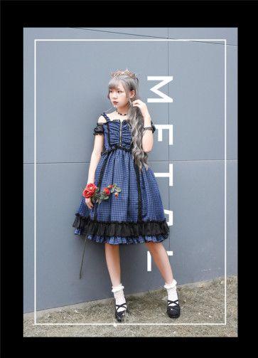 864c0bba9c Gingham Lolita JSK available for custom tailor