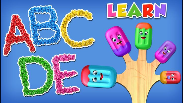 Learn ABCs with 3D Colorful Candies and Ice Cream Finger Family Song for Children