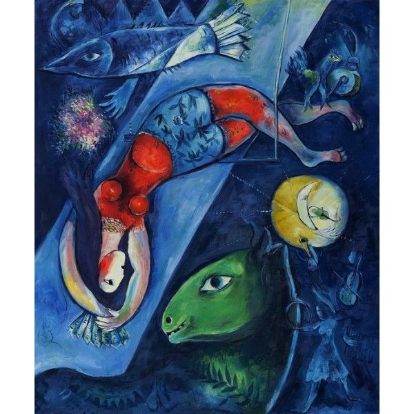M. Chagall, The Blue Circus #Paintings #Art