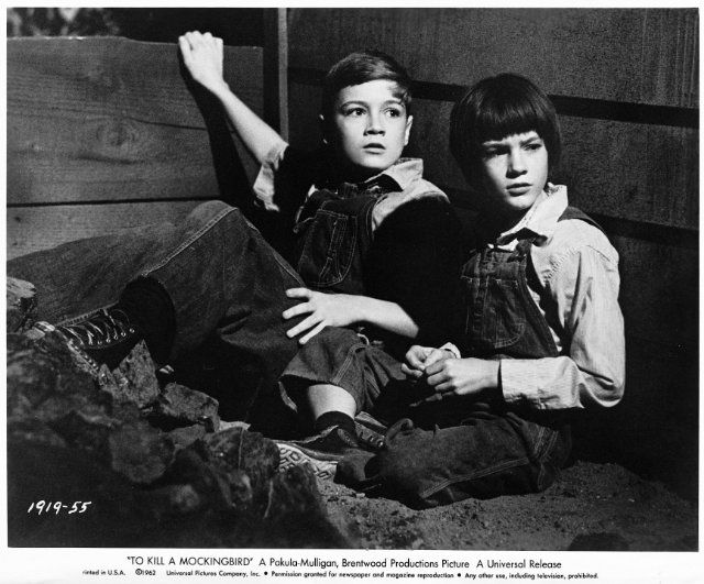 Still of Mary Badham and Phillip Alford in To Kill a Mockingbird