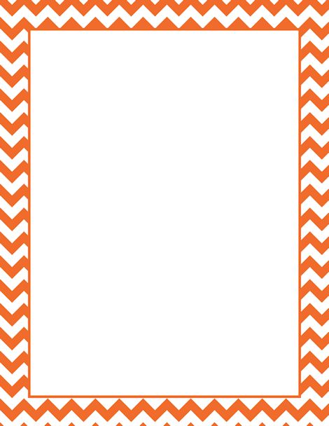 Border Art Clip Orange Template Chevron