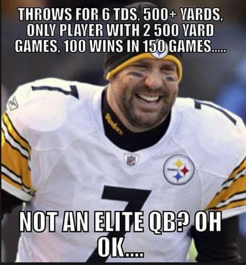 Big Ben's non-elite QB stats