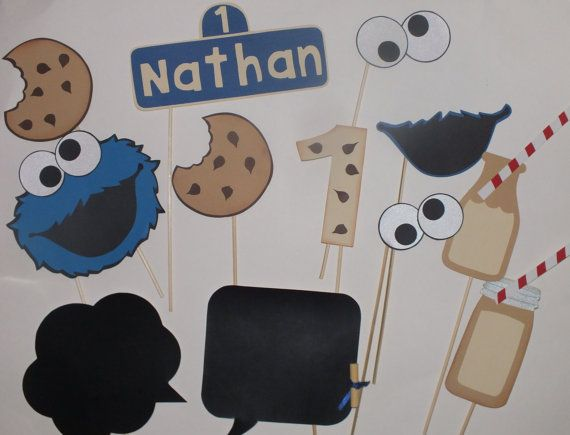 COOKIE MONSTER and MILK by flutterbugfrenzy on Etsy, $30.00