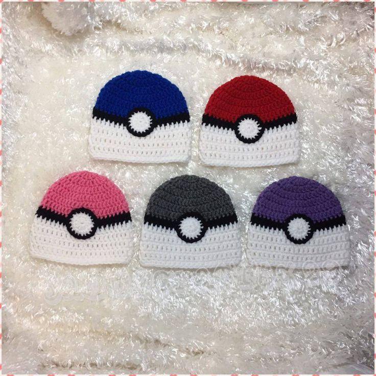 Crochet Pokeball Hat/Pokeball Inspired Beanie/Pokemon Hat/Pokeball Hat/Baby Boy/Baby Girl/Child Pokemon Hat/Adult Pokemon Hat/Baby Pokemon by JAMMYCRAFFTS29 on Etsy