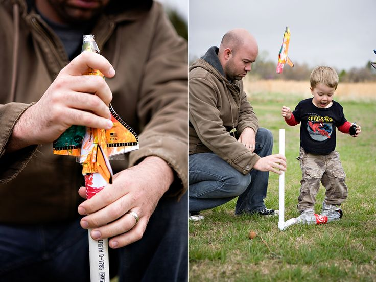 Dad will have a blast playing with this homemade shuttle launcher.