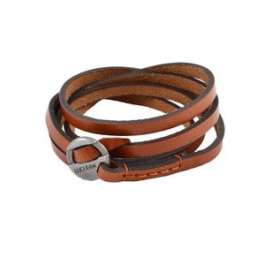 Gold Tone Anchor Leather Cord Lucl 19vSwrkB9