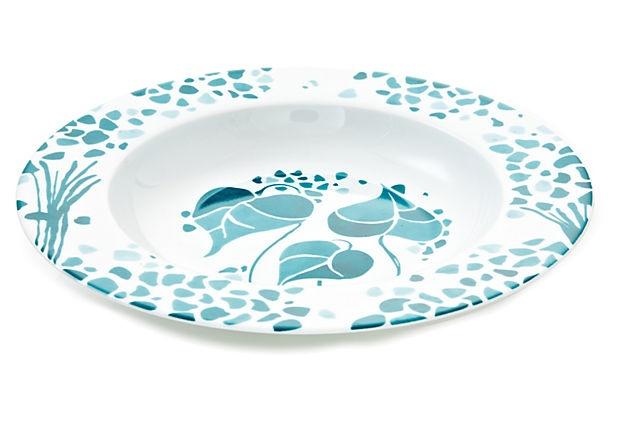 S/4 Hydrangea Soup Dishes on OneKingsLane.com