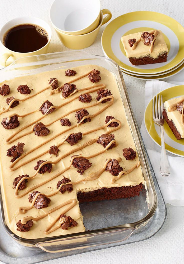 Peanut Butter Poke Cake Brownies – Brownies get the poke-cake treatment in this scrumptious dessert—and are filled with a creamy mixture of peanut butter and vanilla pudding.