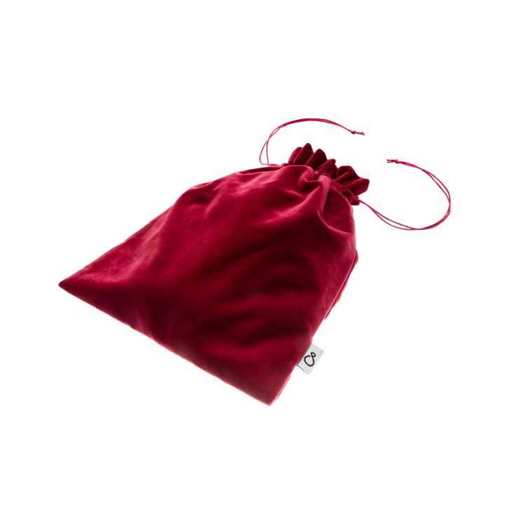 Exclusive velvet bag with lining for your clothes