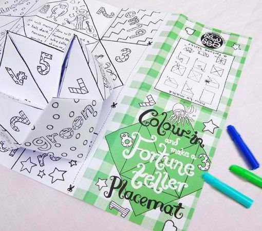Eggnogg Colour-in Placemats $4.95  www.pennyfarthingkids.com.au #pennyfarthingkids #kids #babies #craft #fun #parties #eggnogg