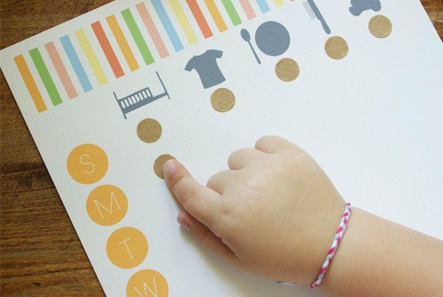 printable modern toddler chore chart.