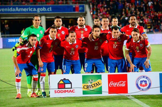 Esta es la formación que comenzó jugando ante Brasil. Luego entraron Mark González, Christian Vilches y Matías Fernández.