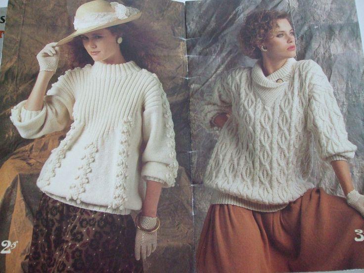 263 best Knitting Crochet patterns Womens Sweaters, Pullovers, coats ...