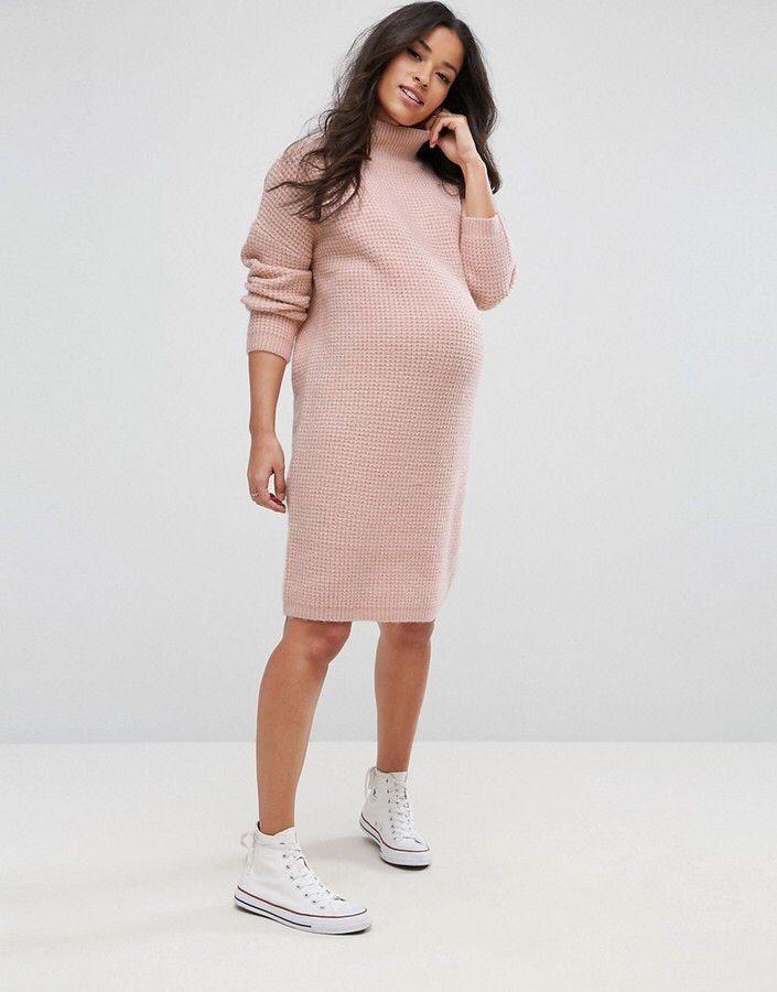 c02276103e1 Maternity dress by asps Maternity. Knitted dress