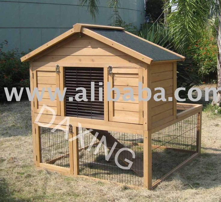 Rabbit cage rabbit hutch rabbit house pet house poultry for Outdoor bunny hutch