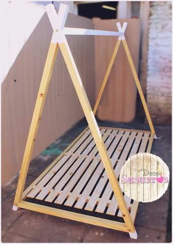Cama Casita Montessori Tipi Estilo Nórdico(90 X1,40 Colchón) - $ 4000 en Melinterest