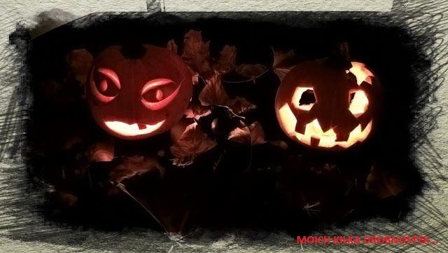 Halloweenowe dynie dwie DIY... Halloween pumpkins DIY