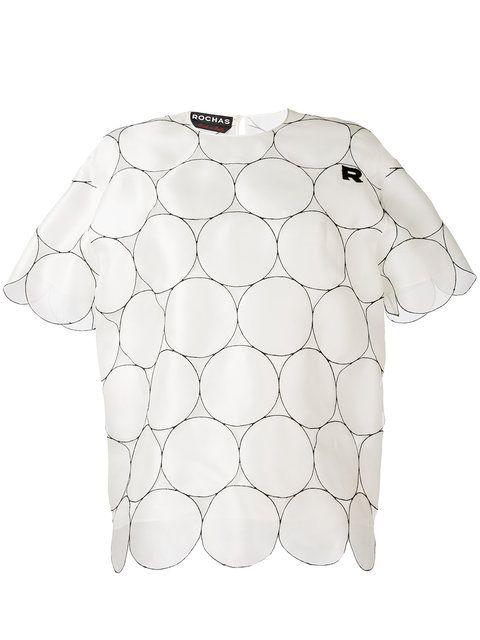 Achetez Rochas blouse à ourlet festonné.