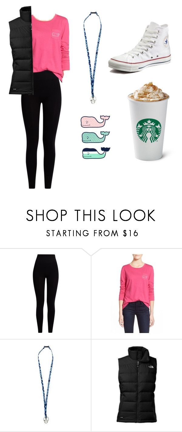"""""""White Girl Uniform"""" by graceschaf on Polyvore featuring Pepper & Mayne, Vineyard Vines, Vera Bradley, The North Face and Converse"""