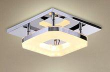 LED plafondverlichting vierkante Acryl 8 w slaapkamer Lamp AC85-265V Plafondlamp Restaurant verlichting lampen en lantaarns Y-108(China (Mainland))